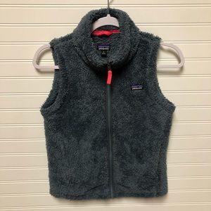Patagonia Girl's Los Gatos Blue Gray Sherpa Vest